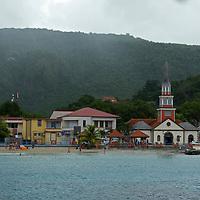 France, Martinique, Les Anses-d'Arlet. Coastal village of Les Anses-d'Arlet, Martinique.