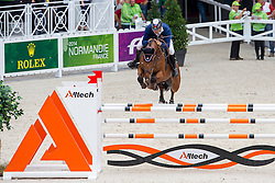 Marian Stangel, (SVK), Badarco - Team & Individual Competition Jumping Speed - Alltech FEI World Equestrian Games™ 2014 - Normandy, France.<br /> © Hippo Foto Team - Leanjo De Koster<br /> 02-09-14