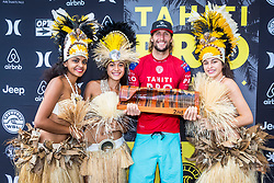 Owen Wright (AUS) Runner Up of the Tahiti Pro 2018 ,Teahupoo, French Polynesia
