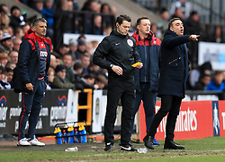 Swansea City manager Carlos Carvalhal gestures on the touchline during the Emirates FA Cup, fourth round match at Meadow Lane, Nottingham.