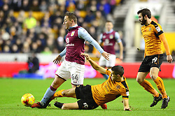 Ross McCormack of Aston Villa is fouled by Conor Coady of Wolverhampton Wanderers - Mandatory by-line: Dougie Allward/JMP - 14/01/2017 - FOOTBALL - Molineux - Wolverhampton, England - Wolverhampton Wanderers v Aston Villa - Sky Bet Championship