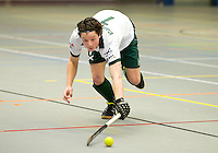 ARNHEM - Bas Campbell van R'dam , De mannen van Rotterdam tijdens de eerste dag van de zaalhockey competitie in de hoofdklasse, seizoen 2013/2014. COPYRIGHT KOEN SUYK