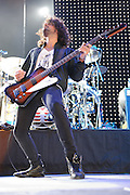 Photos of the band Heart performing in support of Def Leppard at Verizon Wireless Amphitheater in St. Louis on August 10, 2011.