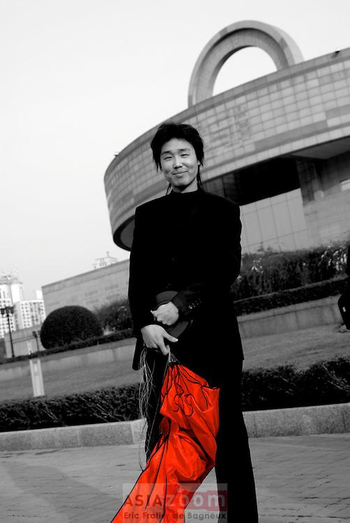 Pilote de Cerf volant a Shanghai en Chine