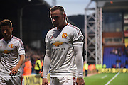 A begrudged Wayne Rooney leaves the field after the Barclays Premier League match between Crystal Palace and Manchester United at Selhurst Park, London, England on 31 October 2015. Photo by Michael Hulf.