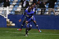 Joie Benjamin MOKULU - 16.12.2014 - Bastia / Caen - Coupe de la   Ligue -<br />Photo : Michel Maestracci / Icon Sport