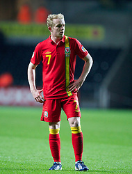 SWANSEA, WALES - Tuesday, March 26, 2013: Wales' Jonathan Williams in action against Croatia during the 2014 FIFA World Cup Brazil Qualifying Group A match at the Liberty Stadium. (Pic by Kieran McManus/Propaganda)