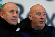 Accrington Stanley Manager John Coleman and Accrington Stanley Assistant Manager Jimmy Bell during the EFL Sky Bet League 1 match between Accrington Stanley and Bristol Rovers at the Fraser Eagle Stadium, Accrington, England on 12 January 2019.