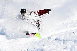 Off-piste Snowboarding in Powder Snow