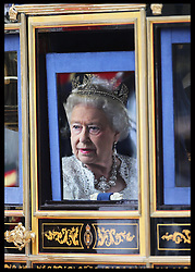 The Queen leaving the State Opening of Parliament in London, Wednesday, 8th May 2013.  Photo by: Stephen Lock / i-Images