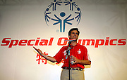 TIM SHRIVER (CHAIRMAN OF SPECIAL OLYMPICS) DURING SPORT EXPERIENCE INCLUDING SPECIAL OLYMPICS WORLD SUMMER GAMES SHANGHAI 2007..SPECIAL OLYMPICS IS AN INTERNATIONAL ORGANIZATION DEDICATED TO EMPOWERING INDIVIDUALS WITH INTELLECTUAL DISABILITIES..SHANGHAI , CHINA , OCTOBER 01, 2007.( PHOTO BY ADAM NURKIEWICZ / MEDIASPORT )..