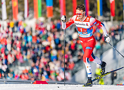 24.02.2019, Langlauf Arena, Seefeld, AUT, FIS Weltmeisterschaften Ski Nordisch, Seefeld 2019, Langlauf, Herren, Teambewerb, im Bild Emil Iversen (NOR) // Emil Iversen of Norway during the men's cross country team competition of FIS Nordic Ski World Championships 2019 at the Langlauf Arena in Seefeld, Austria on 2019/02/24. EXPA Pictures © 2019, PhotoCredit: EXPA/ Stefan Adelsberger