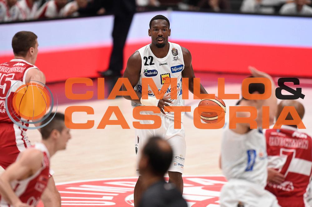 Dustin Hogue<br /> EA7 Emporio Armani Olimpia Milano - Dolomiti Energia Aquila Basket Trento<br /> Lega Basket Serie A, Semifinali Playoff 2016/2017<br /> Milano, 25/05/2017<br /> Foto Ciamillo-Castoria