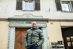Tomas Globocnik, former Slovenian Biathlon athlete, posing in front of his house in Trzic, where he used to live, on January 12, 2018 in Trzic, Slovenia. Photo by Vid Ponikvar / Sportida