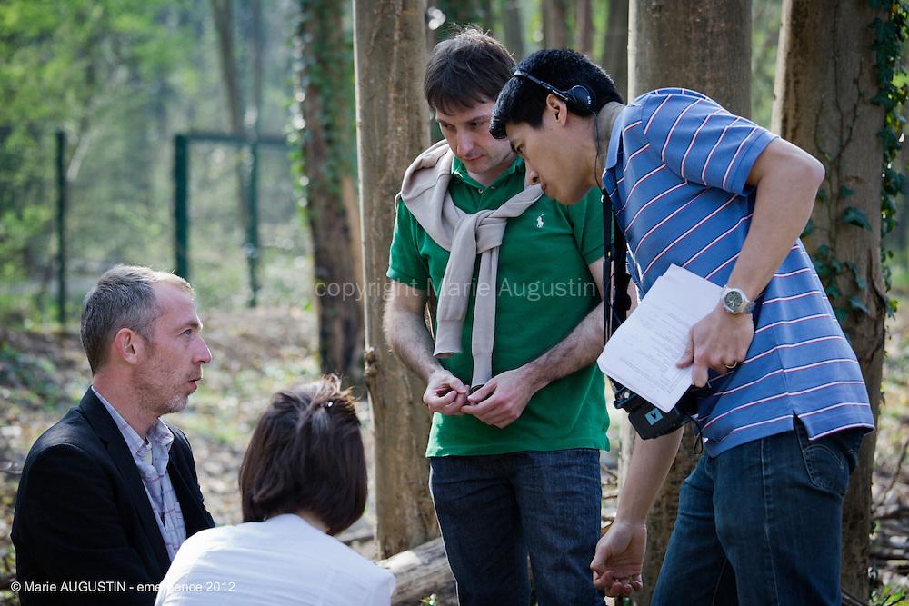 Manina VALLEIX, Raphaël POTIER et Pascal TANTOT, comédiens - tournage scène imposée de François YANG - emergence 2012