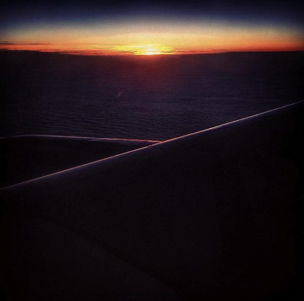 September 2015: the sky at sunset, flying back to Rome.