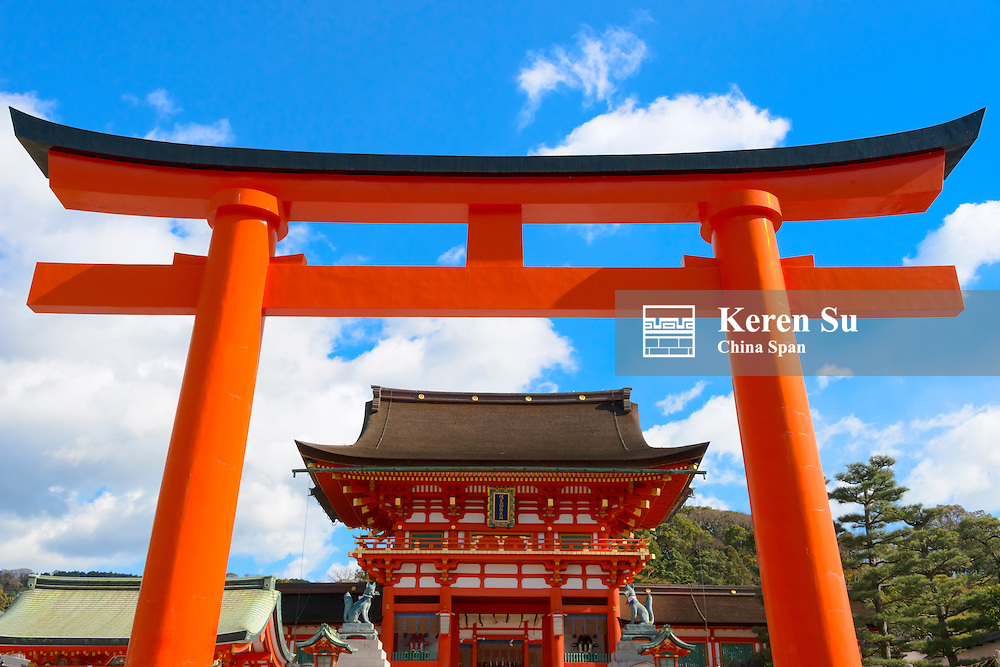 Fushimi Inari Shrine with Torii gate, Kyoto, Japan