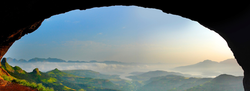 Valley view from ratangad CAVE!
