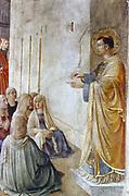 St Stephen Preaching' (detail). Fra Angelico (Guido di Pietro/Giovanni da Fiesole c1400-55) Italian painter. Fresco, Chapel of Nicholas V, Vatican Palace