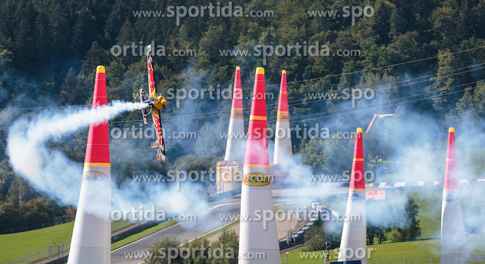 06.09.2015, Red Bull Ring, Spielberg, AUT, Red Bull Air Race, Spielberg, Rennen, im Bild Peter Besenyei (HUN) // Peter Besenyei of Hungary during the race of Red Bull Air Race Championships 2015 at the Red Bull Ring in Spielberg, Austria on 2015/09/06. EXPA Pictures © 2015, PhotoCredit: EXPA/ JFK