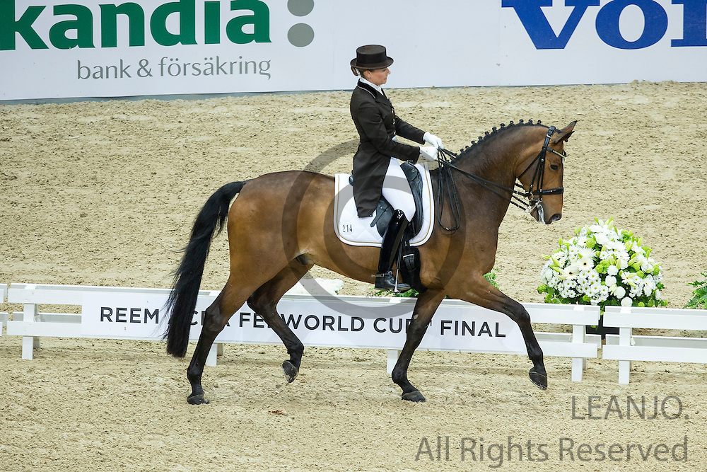 Marcela Krinke Susmeij - Smeyers Molberg<br /> Reem Acra FEI World Cup Dressage Final 2013<br /> &copy; DigiShots