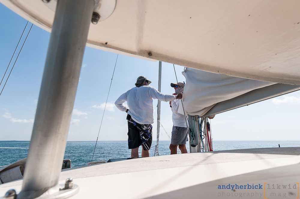 JUNE 8, 2014 - Atlantic Ocean, FL, USA - Onboard images taken during the delivery of S/V Raekved from the Florida Keys to Annapolis, MD. - IMAGE © 2014 Andy Herbick | www.andyherbickphotography.com - ALL RIGHTS RESERVED.
