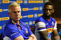 Cape Town-180419 Stomers coach Robbie Fleck announced his team that will be facing the Sharks in Durban this coming weekend.He also announced his plans for this game.photograph:Phando Jikelo/African News Agency/ANA
