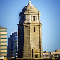Boston Longfellow Bridge salt and pepper shaker tower before the 2014 renovation and restoration project changes we made. Boston Massachusetts is a major city in the Eastern United States of America. Copyright ⓒ Paul Velgos with All Rights Reserved.