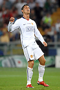 A dejected Cristiano Ronaldo reacts after missing a chance during the final of the UEFA football Champions League on May 27, 2009 at the Olympic Stadium in Rome.