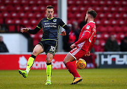 Billy Bodin of Bristol Rovers challenges Joe Edwards of Walsall - Mandatory by-line: Robbie Stephenson/JMP - 26/12/2017 - FOOTBALL - Banks's Stadium - Walsall, England - Walsall v Bristol Rovers - Sky Bet League One