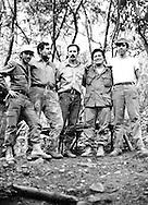 Fotos de Archivo de la Comandancia General del Frente Farabundo Marti (FMLN) durante los anos de la guerra civil.  Francisco Jovel, Jorge Schafik Handal, Eduardo Sancho, Leonel Gonalez y Joaquin Villalobos. Photo: Imagenes Libres.