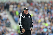 Cardiff City first team mamager Russell Slade shouting during the Sky Bet Championship match between Brighton and Hove Albion and Cardiff City at the American Express Community Stadium, Brighton and Hove, England on 3 October 2015.