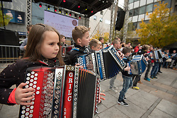 Young accordion players during martinovanje, St. Martin's Day Celebration on November 11, 2019 in Maribor, Slovenia. Photo by Milos Vujinovic / Sportida