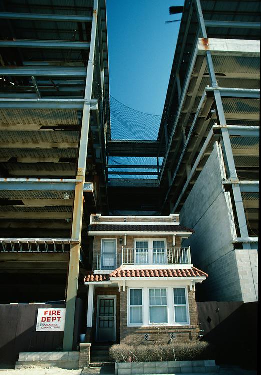 House and construction, Atlantic City, NJ.
