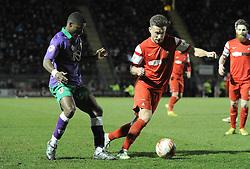 Leyton Orient's Luke O'Neil gets away from Bristol City's Kieran Agard - Photo mandatory by-line: Dougie Allward/JMP - Mobile: 07966 386802 - 03/03/2015 - SPORT - football - Leyton - Brisbane Road - Leyton Orient v Bristol City - Sky Bet League One