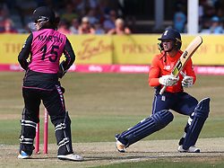 July 1, 2018 - London, Greater London, United Kingdom - Danni Wyatt of England Women(Left).during International Twenty20 Final match between England Women and New Zealand Women  at The Cloudfm County Ground, Chelmsford, England on 01 July 2018. (Credit Image: © Kieran Galvin/NurPhoto via ZUMA Press)