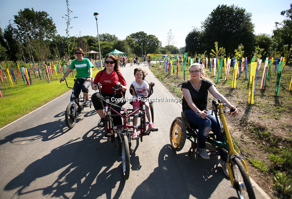 Children on Adapted bikes Cuningar Loop woodland park.23.08.2015.Photo David Cheskin