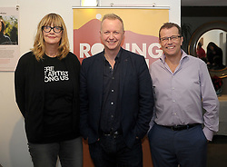 Lise Hand, Author and Broadcaster Matt Cooper and Paul Howard at the Rolling Sun Book festival opening on friday last.<br /> Pic Conor McKeown