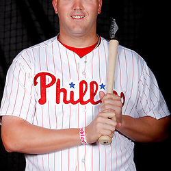February 22, 2011; Clearwater, FL, USA; Philadelphia Phillies first baseman Matt Rizzotti (76) poses during photo day at Bright House Networks Field. Mandatory Credit: Derick E. Hingle