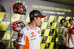 June 8, 2017 - Barcelona, Spain - MotoGP, Marc Marquez(Spa), Repsol Honda Team during the press conference of MotoGp Grand Prix Monster Energy of Catalunya, in Barcelona-Catalunya Circuit, Barcelona on 8th June 2017 in Barcelona, Spain. (Credit Image: © Urbanandsport/NurPhoto via ZUMA Press)