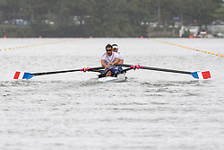 Stephane TARDIEU, Perle BOUGE, FRA, TA Mixed Double Sculls at Rio 2016 Paralympic Games, Brazil