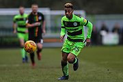 Forest Green Rovers Junior Mondal(25) on the ball during the EFL Sky Bet League 2 match between Forest Green Rovers and Yeovil Town at the New Lawn, Forest Green, United Kingdom on 16 February 2019.