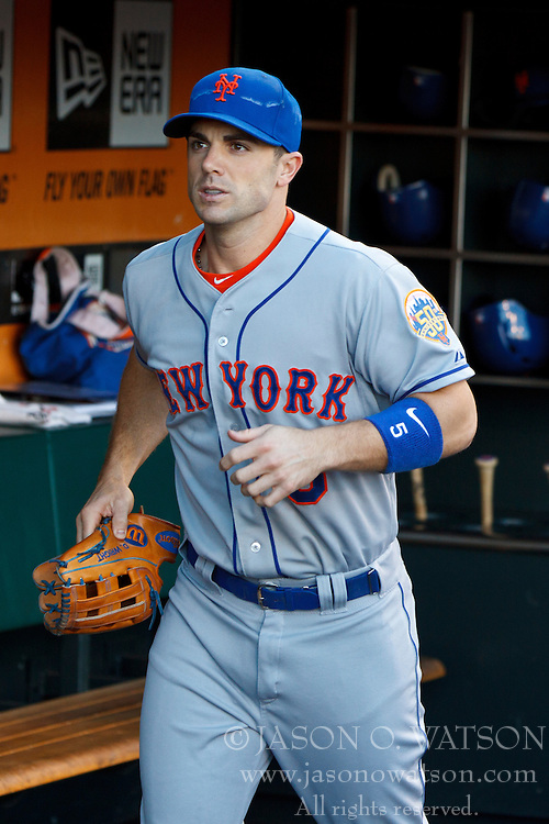SAN FRANCISCO, CA - JULY 30: David Wright #5 of the New York Mets stands in the dugout before the game against the San Francisco Giants at AT&T Park on July 30, 2012 in San Francisco, California. The New York Mets defeated the San Francisco Giants 8-7 in 10 innings. (Photo by Jason O. Watson/Getty Images) *** Local Caption *** David Wright