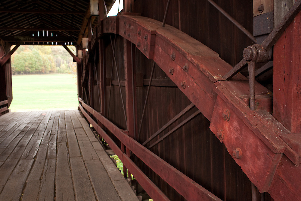 Covered Walking Bridge, Ohio University Lancaster Campus.Photo by Chris Franz