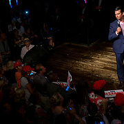 Donald Trump Jr. addresses the crowd at a  campaign rally for Ron DeSantis for Governor at B.B. King's Blues Club in Orlando, Fla., Wednesday, July 18, 2018. (Photo by Willie J. Allen Jr. for The Washington Post)