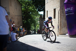 Alexis Ryan (USA) of CANYON//SRAM Racing rides near the top of the final climb of Stage 5 of the Giro Rosa - a 12.7 km individual time trial, starting and finishing in Sant'Elpido A Mare on July 4, 2017, in Fermo, Italy. (Photo by Balint Hamvas/Velofocus.com)