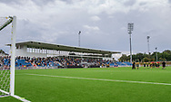 Aktiviteter på banen ved indvielsen af Helsingør Kommunes nye stadion på Gl. Hellebækvej i Helsingør den 8. august 2019 (Foto: Claus Birch)