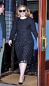 Adele leaves her hotel in New York