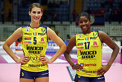 03-11-2018 ITA: Saugella Team Monza - Imoco Volley Conegliano, Monza<br /> Robin de Kruijf #5 of Imoco Volley Conegliano, Miriam Sylla #17 #5 of Imoco Volley Conegliano<br /> <br /> *** Netherlands use only ***