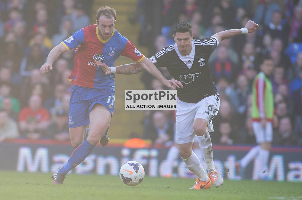 Glenn Murray & Jose Fonte Crystal Palace v Southampton Premiership  Premiership 8/3/2014 (c) Steve Ball|/Sportpix.org.uk(c) Steve Ball| SportPix.org.uk